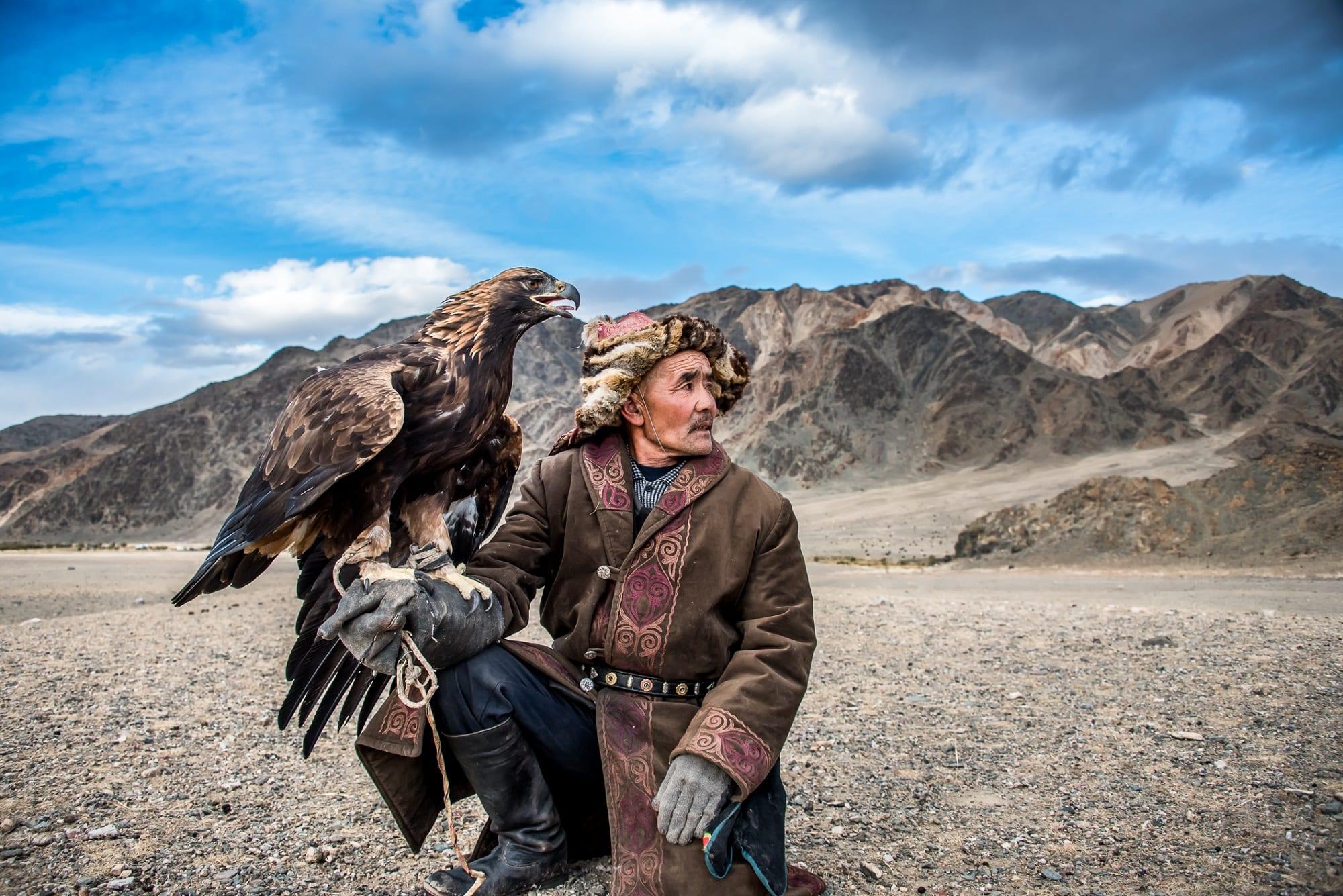 Kazakh Eagle Hunter and his Golden Eagle