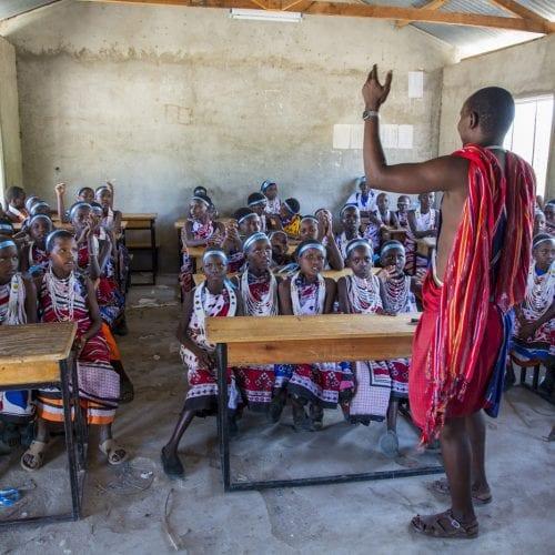 Maasai School Class