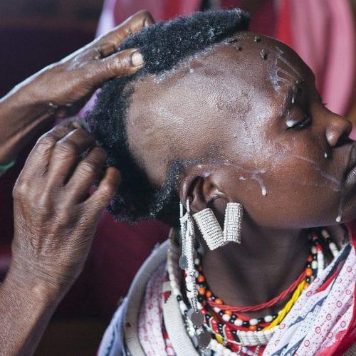 Maasai Girl Celebrating