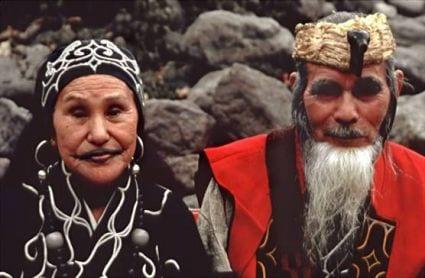A Ainu couple