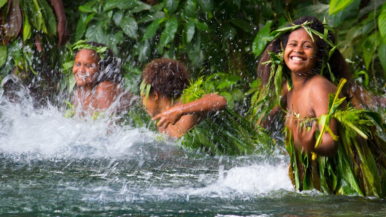 Vanuatu female water drummers